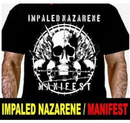 Camiseta Dark Stamp Impaled Nazarene - Manifest